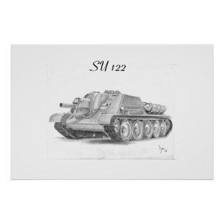 Soviet  SU 122 Assault gun Print
