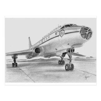 Soviet TU104 airliner postcard