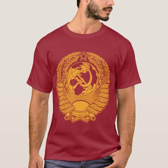 Soviet Union Coat of Arms Wreath Vintage Russian T-Shirt