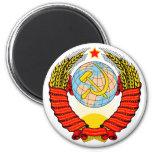 Soviet Union Emblem 2 Inch Round Magnet