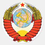 Soviet Union Emblem Round Stickers