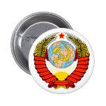 Soviet Union Emblem with CCCP 2 Inch Round Button