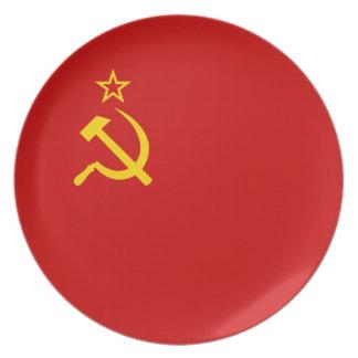 Soviet Union Flag Dinner Plate