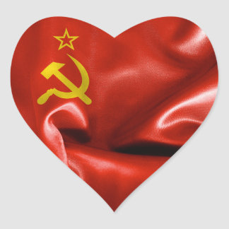 Soviet Union Flag Heart Sticker