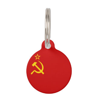 Soviet Union Flag Pet Tag