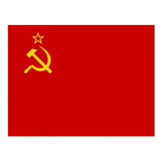 Soviet Union Flag Post Card
