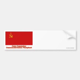 Soviet Union Flag with Full Name Bumper Sticker