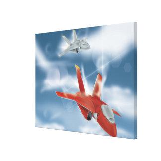 Soviet Union Jet Fighter Poster Canvas Print