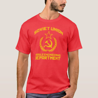 Soviet Union Missile Engineering Department T-Shirt