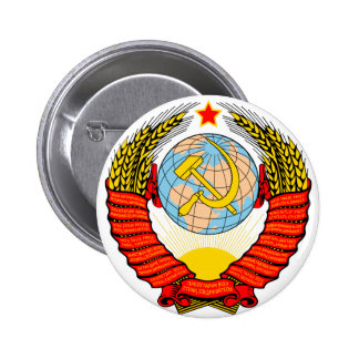 Soviet Union National Emblem Pinback Buttons