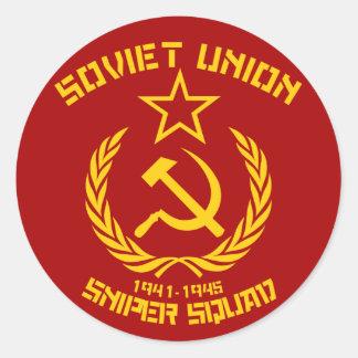 Soviet Union Sniper Squad Classic Round Sticker