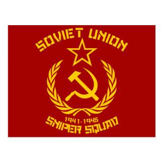 Soviet Union Sniper Squad Postcard