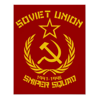 Soviet Union Sniper Squad Poster