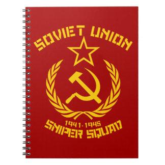 Soviet Union Sniper Squad Spiral Notebook