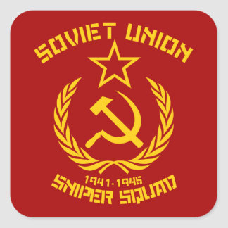 Soviet Union Sniper Squad Square Sticker