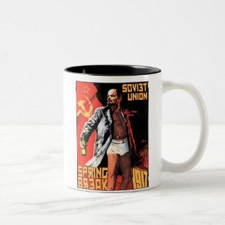 Soviet Union Spring Break 1917 Drinkware Two-Tone Coffee Mug