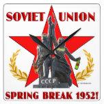 Soviet Union Spring Break 1952 Square Wall Clock