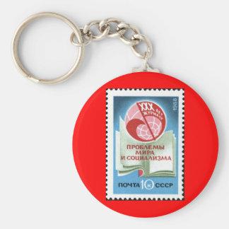 Soviet_Union_stamp_1988_CPA_5985 Basic Round Button Keychain