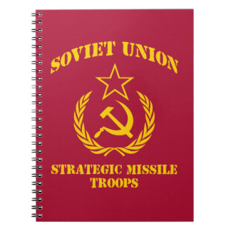 Soviet Union Strategic Missile Troops Spiral Notebooks
