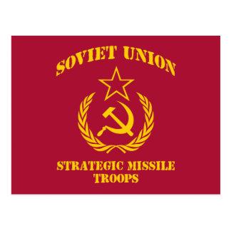 Soviet Union Strategic Missile Troops Postcard