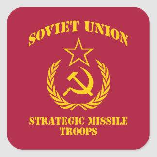Soviet Union Strategic Missile Troops Square Sticker