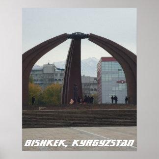 Soviet Victory Square, Bishkek Frunze, Kyrgyzstan Poster