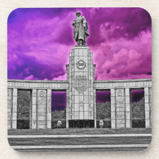 Soviet War Memorial, Berlin, Germany -Part B/W Coaster