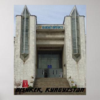 Soviet Wedding Palace, Bishkek Frunze, Kyrgyzstan Poster