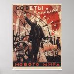 Soviet y electricidad poster