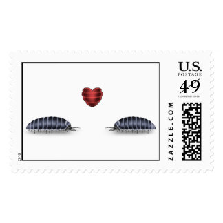 Sow Bugs in Luv Postage Stamp