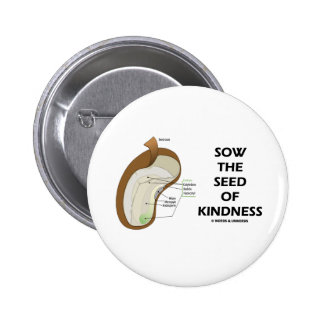 Sow The Seed Of Kindness (Seed Anatomy Humor) Pinback Buttons