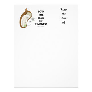 Sow The Seed Of Kindness (Seed Anatomy Humor) Letterhead