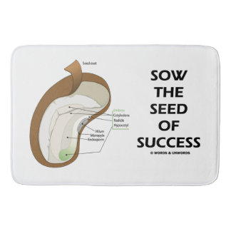 Sow The Seed Of Success Dicotyledon Bean Seed Bathroom Mat