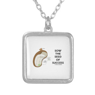 Sow The Seed Of Success (Seed Anatomy Humor) Personalized Necklace