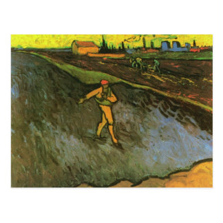 Sower, Arles in Background(F575a)Van Gogh Fine Art Postcard