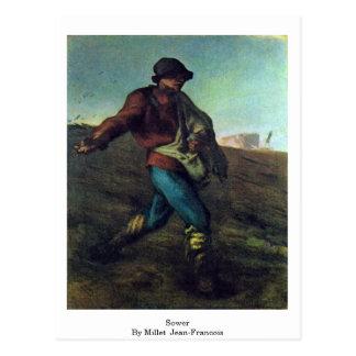 Sower By Millet (Ii), Jean-Francois Postcard