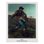 Sower By Millet (Ii), Jean-Francois Poster