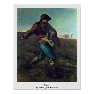 Sower By Millet (Ii), Jean-Francois Posters