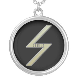 Sowilo Rune gold Silver Plated Necklace