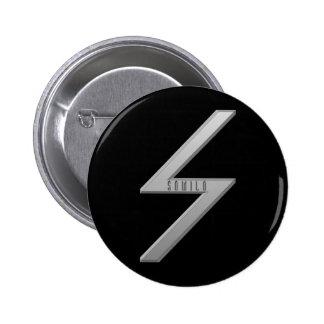 Sowilo Rune grey Pinback Button