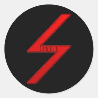 Sowilo Rune red Classic Round Sticker