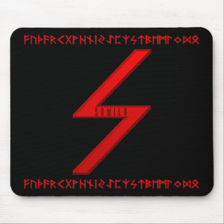 Sowilo Rune red Mouse Pad