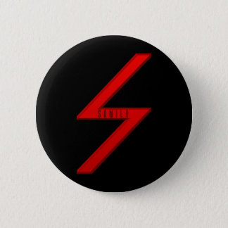 Sowilo Rune red Pinback Button