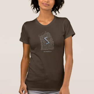 Sowilo rune symbol on east Rok runestone T-Shirt