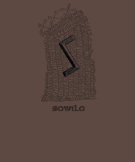 Sowilo rune symbol on east Rok runestone Tee Shirts