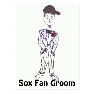 Sox Fan Groom Postcard