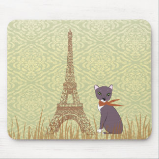 Soxy en mirada retra del cojín de ratón de París Tapetes De Ratones