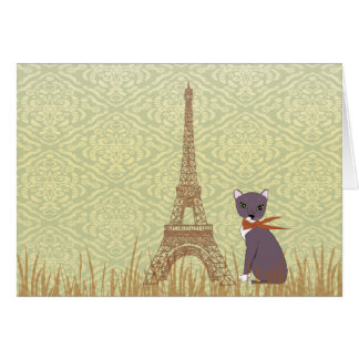 Soxy en tarjeta de nota de París