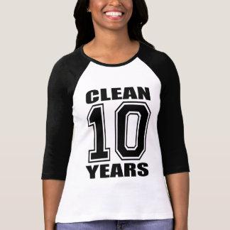 ¡Soy 10 años limpios! Playera