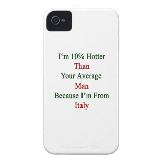 Soy 10 más calientes que su hombre medio porque iPhone 4 Case-Mate cárcasas